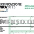 modello certificato unico 2015