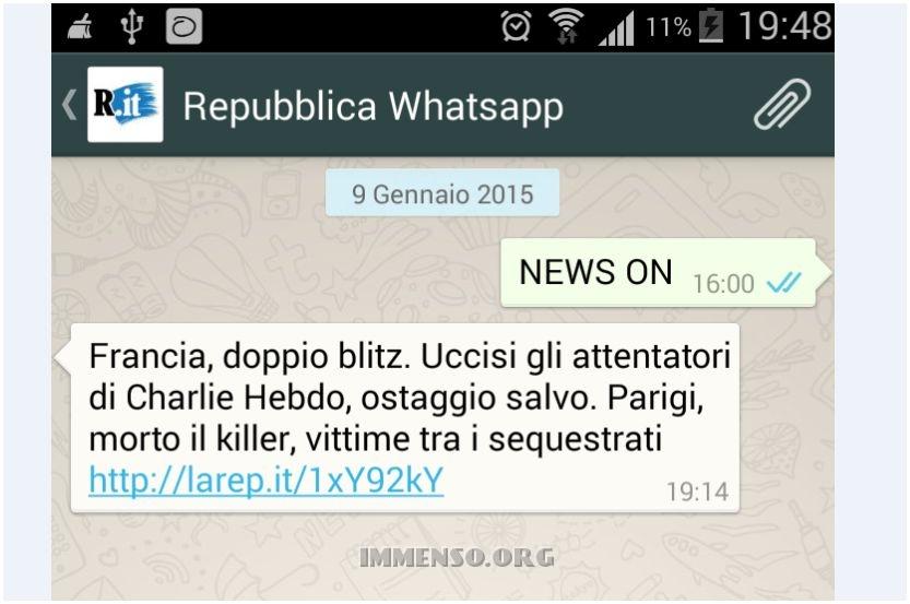 repubblica whatsapp