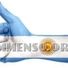 argentina mano bandiera