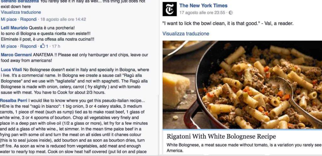 ricetta rigatoni bolognese new york times