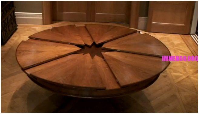 il tavolo tondo che si allarga in automatico