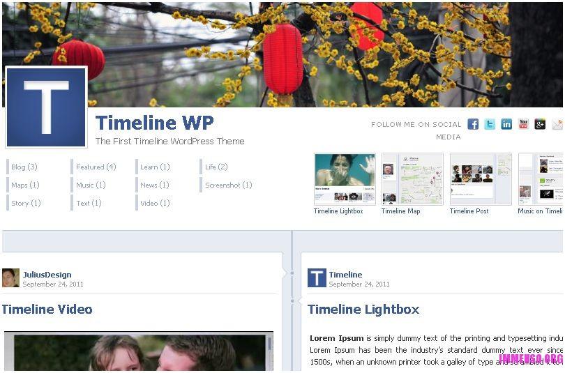 template facebook timeline