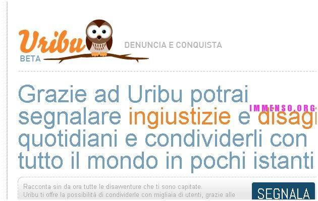 uribu.com per segnalare cose negative in italia