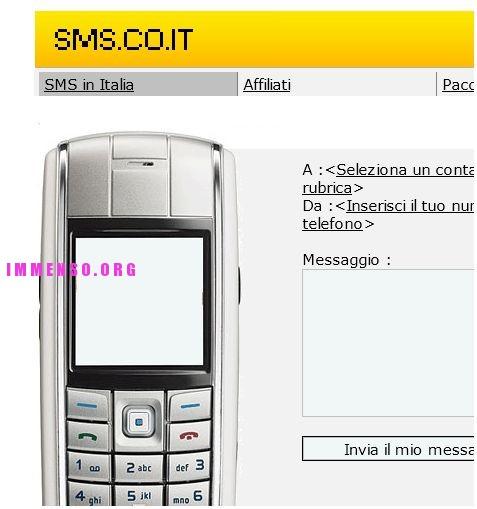sms.co.it promette sms gratis, ma fa pagare il destinatario