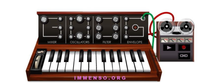 doodle sintetizzatore Moog