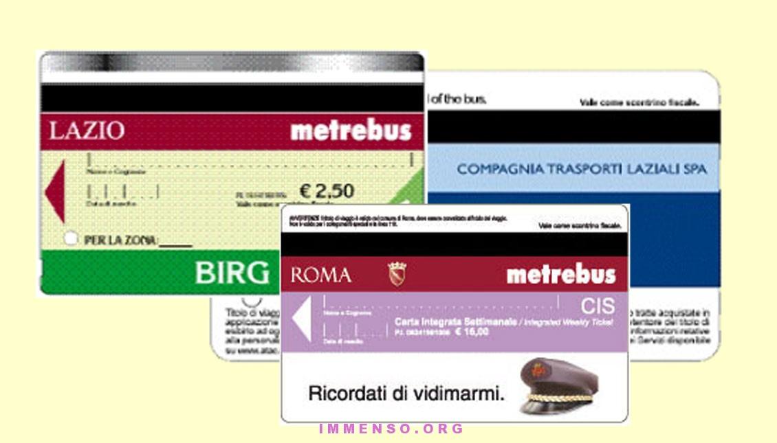 tariffe abbonamenti e biglietti autobus Lazio e Roma