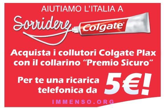 ricarica gratis 5 euro spazzolino e collutorio colgate