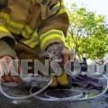 Pompiere salva gattino