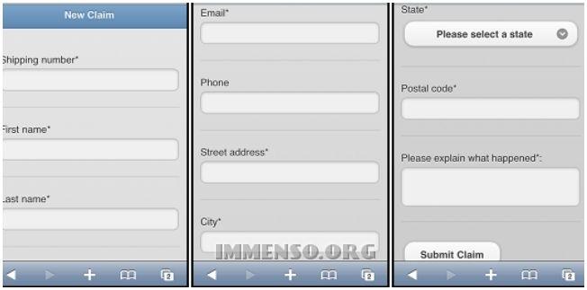 applicazione web form