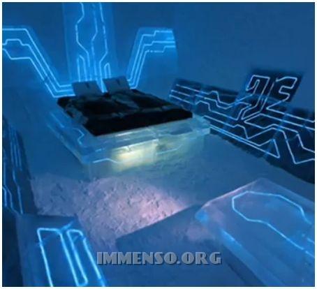 hotel con stanze di ghiaccio