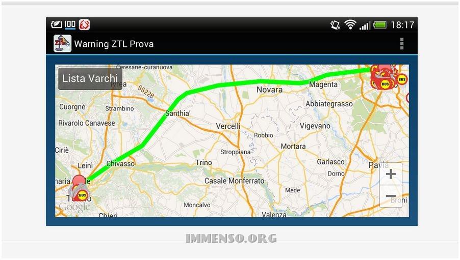 warning ztl app