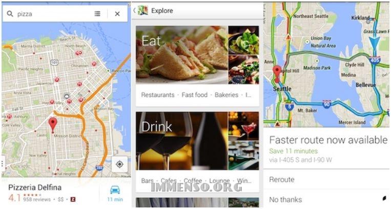 google maps esplora