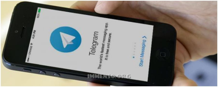 telegram schermata smartphone