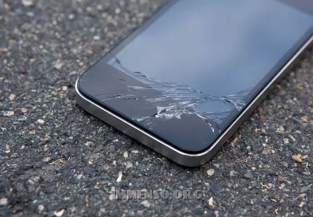 vetro rotto cellulare